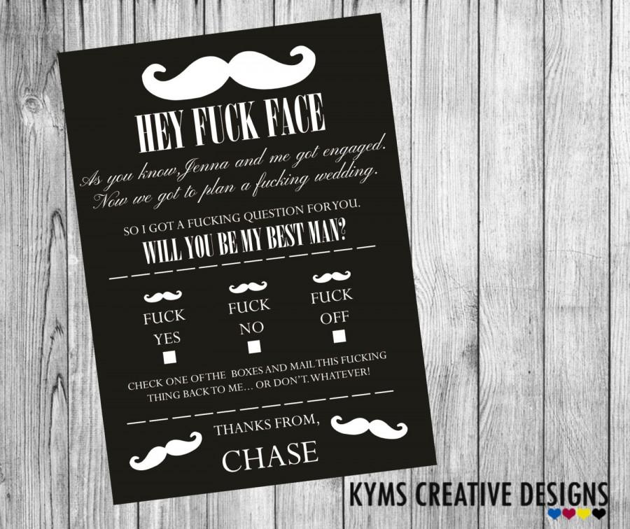 Свадьба - Will you be my Best Man, Will you be my best man invitation, best man announcement, Funny wedding card,  Supplied with Envelope