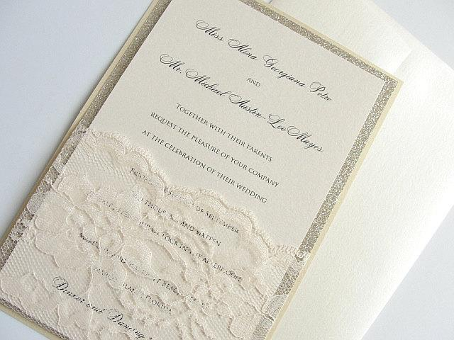 Mariage - Wedding Invitation, Wedding Invite, Elegant Invitation, Rustic Wedding, Rustic Invitation, Elegant Wedding, Vintage Wedding, LALA