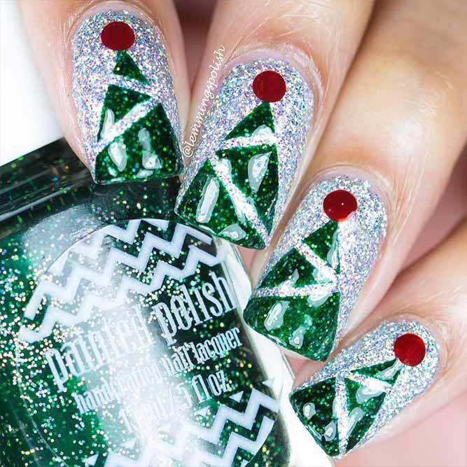 Mariage - 36 Cool Shimmering Christmas Nails
