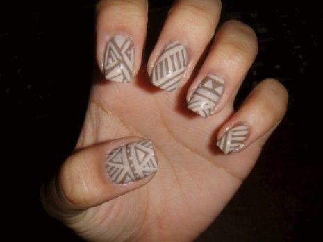 Mariage - Brown Nail Art