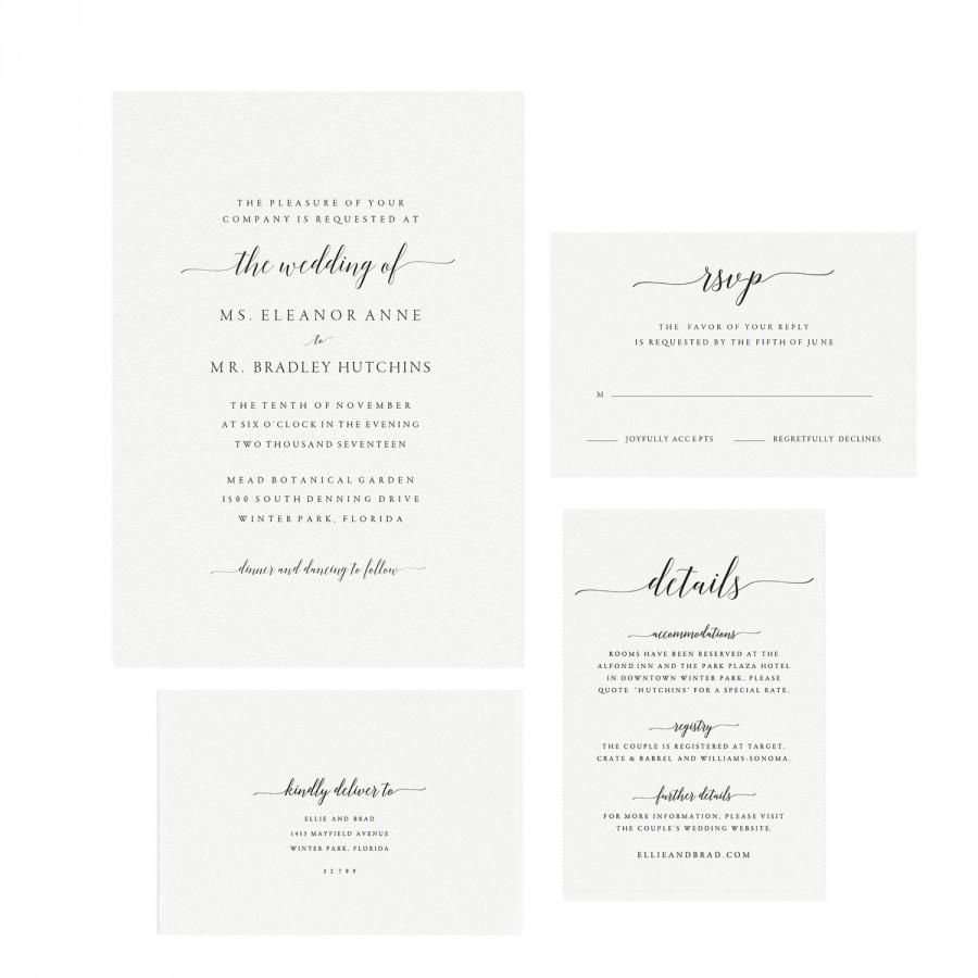 Adel Instant Printable Wedding Invitation Template Calligraphy