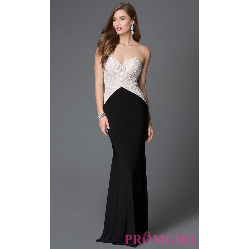 Wedding - Sheer and Sequin Bodice Open Back Xcite Dress - Brand Prom Dresses