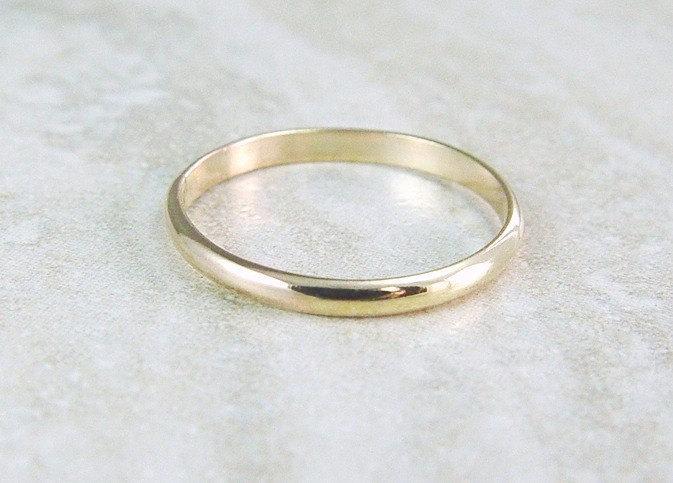 Gold Stacking Ring Filled Wedding Band Skinny