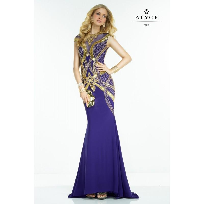 Wedding - Alyce Paris 2538 dress - Fit and Flare Off the Shoulder Long Alyce Paris Prom Dress - 2017 New Wedding Dresses