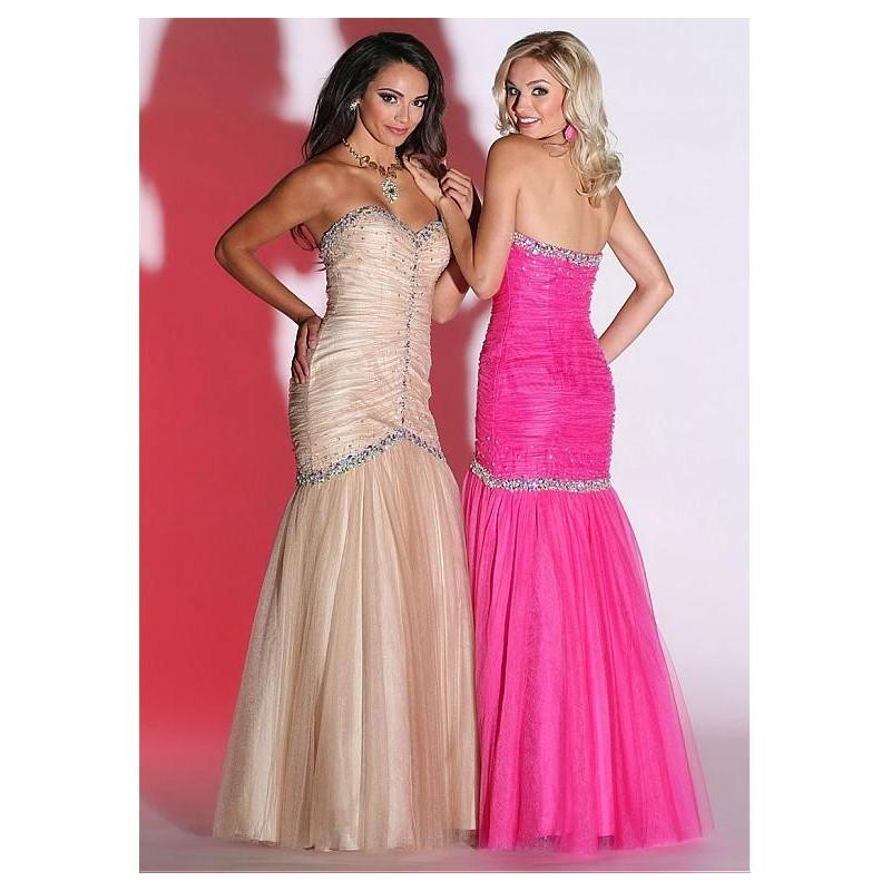 Wedding - Elegant Tulle Sweetheart Neckline Mermaid Prom Dress with Beadings & Rhinestones - overpinks.com