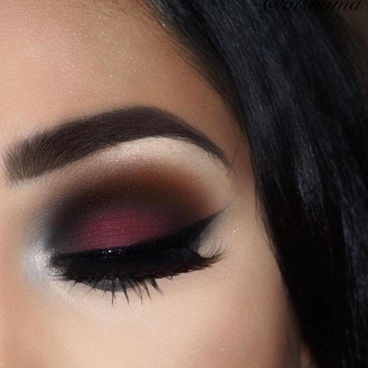 Hochzeit - Burgundy Makeup