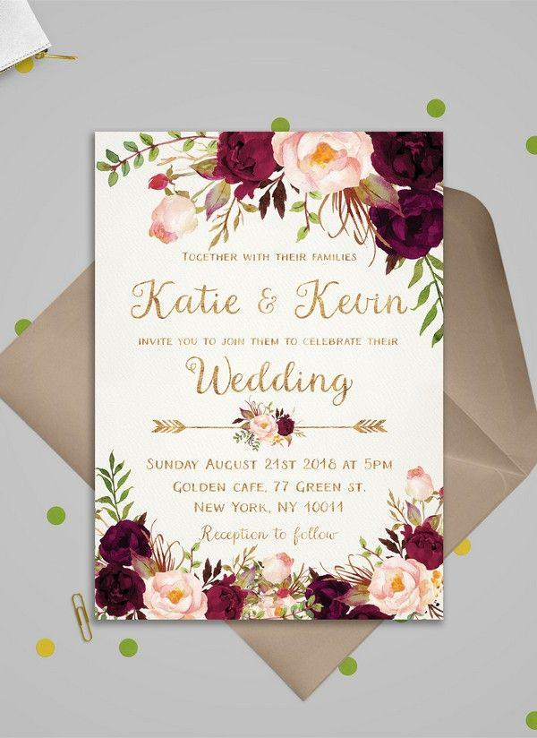 Top 10 Wedding Invitations We Love From ETSY For 2018 #2802797 ...