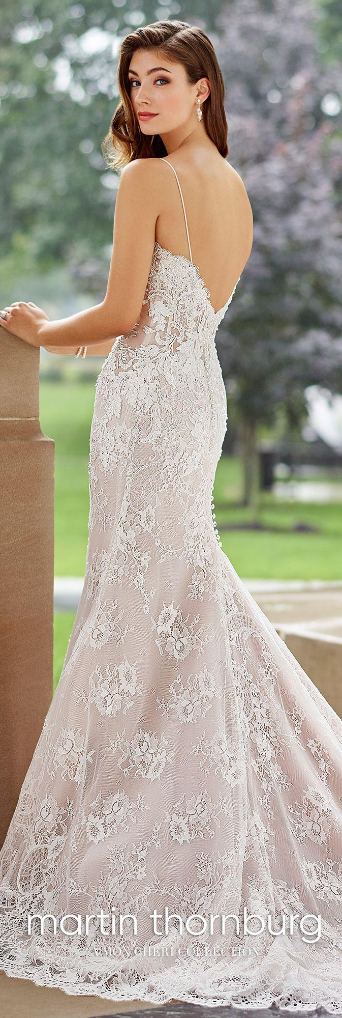 Hochzeit - Allover Lace & Organza Fit & Flare Wedding Dress- 118270 Cabaletta