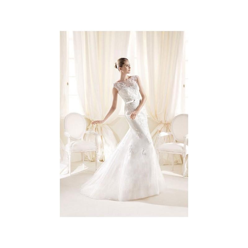 Свадьба - Vestido de novia de La Sposa Modelo IGONNE - 2014 Sirena Barco Vestido - Tienda nupcial con estilo del cordón