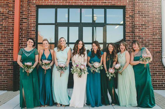 Свадьба - 10 Best Combinations For Mismatched Bridesmaid Dresses