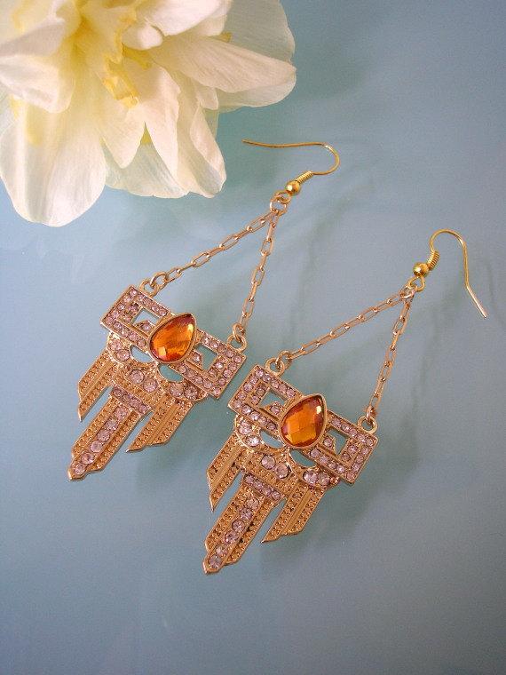 Mariage - Orange Earrings