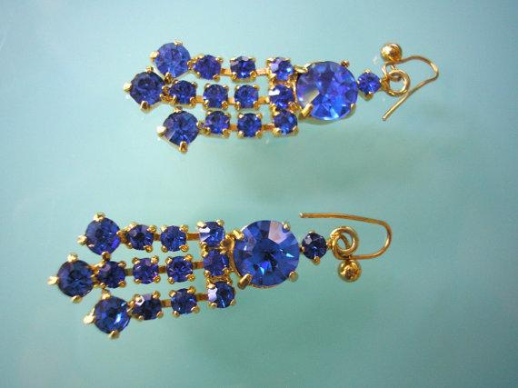 Mariage - Cobalt Blue Earings