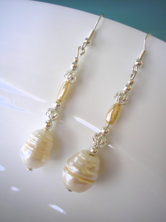 Mariage - Baroque Pearl Earrings