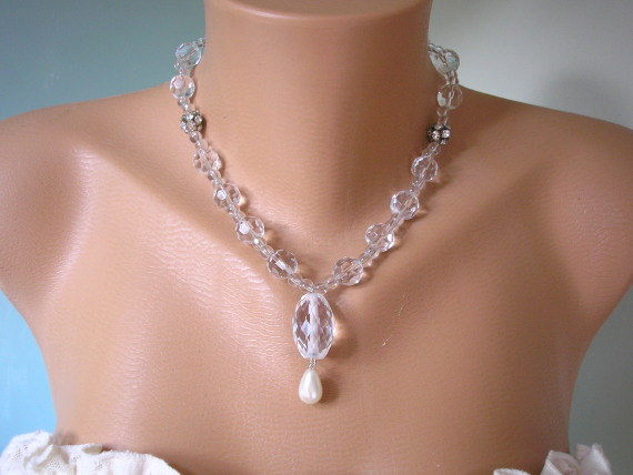 Wedding - Crystal Bridal Necklace
