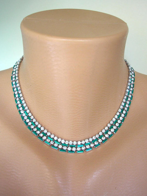 Boda - Emerald Necklace, Emerald Bridal Choker