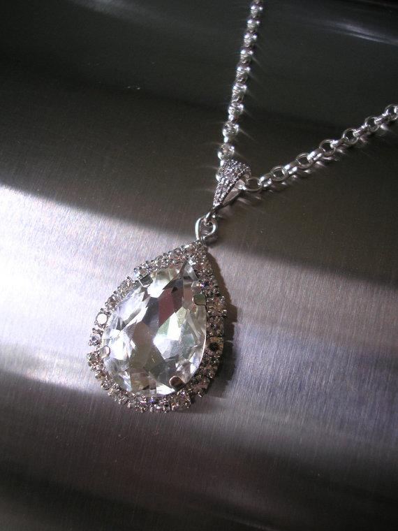 Hochzeit - Crystal Bridal Pendant