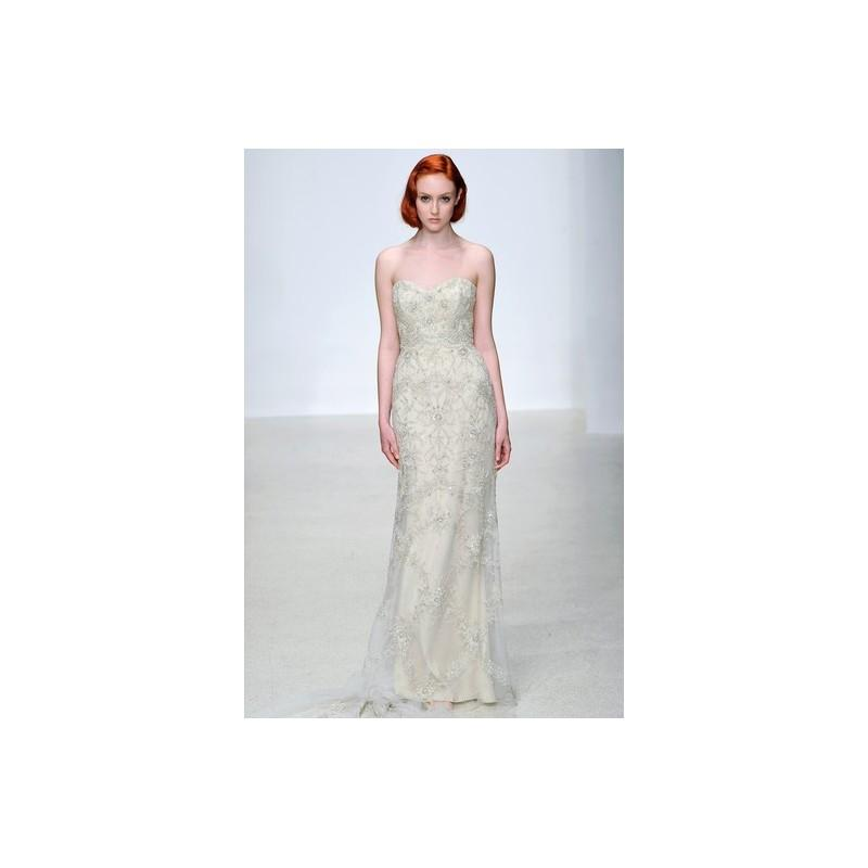 Hochzeit - Kenneth Pool SS13 Dress 1 - Spring 2013 Full Length Nude Sweetheart Sheath Kenneth Pool - Rolierosie One Wedding Store
