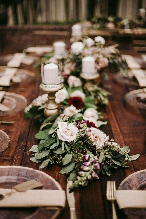 Wedding - Trending-10 Burgundy And Blush Wedding Centerpieces For 2018