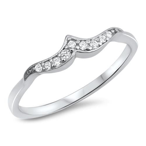A Perfect 6tcw Russian Lab Diamond Mini Wave Wedding Band Ring