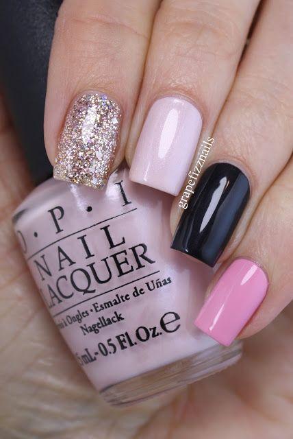 Wedding - Glittery Pink Skittle Manicure (grape Fizz Nails)