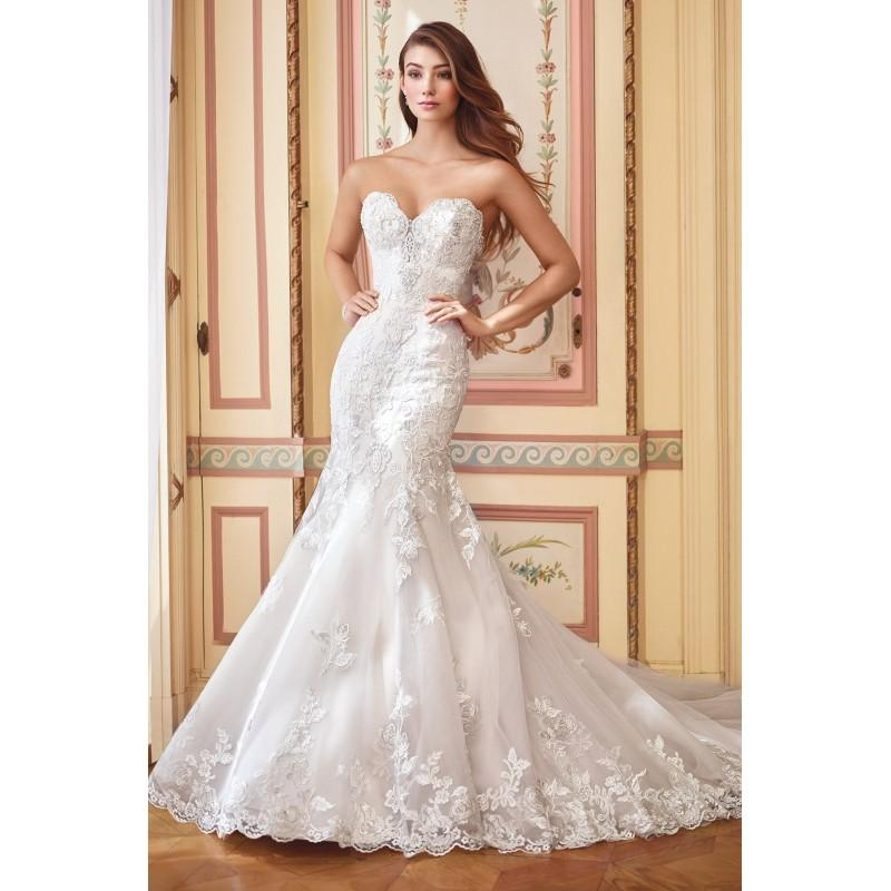 Wedding - Style 117284 by David Tutera for Mon Cheri - Ivory  Champagne Lace  Tulle Floor Sweetheart  Strapless Wedding Dresses - Bridesmaid Dress Online Shop