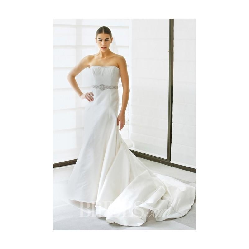 Mariage - Justina McCaffrey - Spring 2015 - Style 1417 Regalia Strapless Charmeuse A-Line Wedding Dress - Stunning Cheap Wedding Dresses