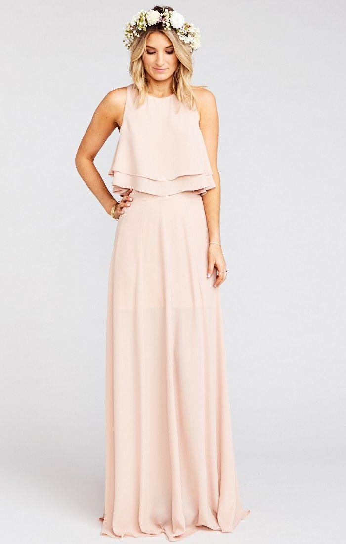 Wedding - Long Beige Dress