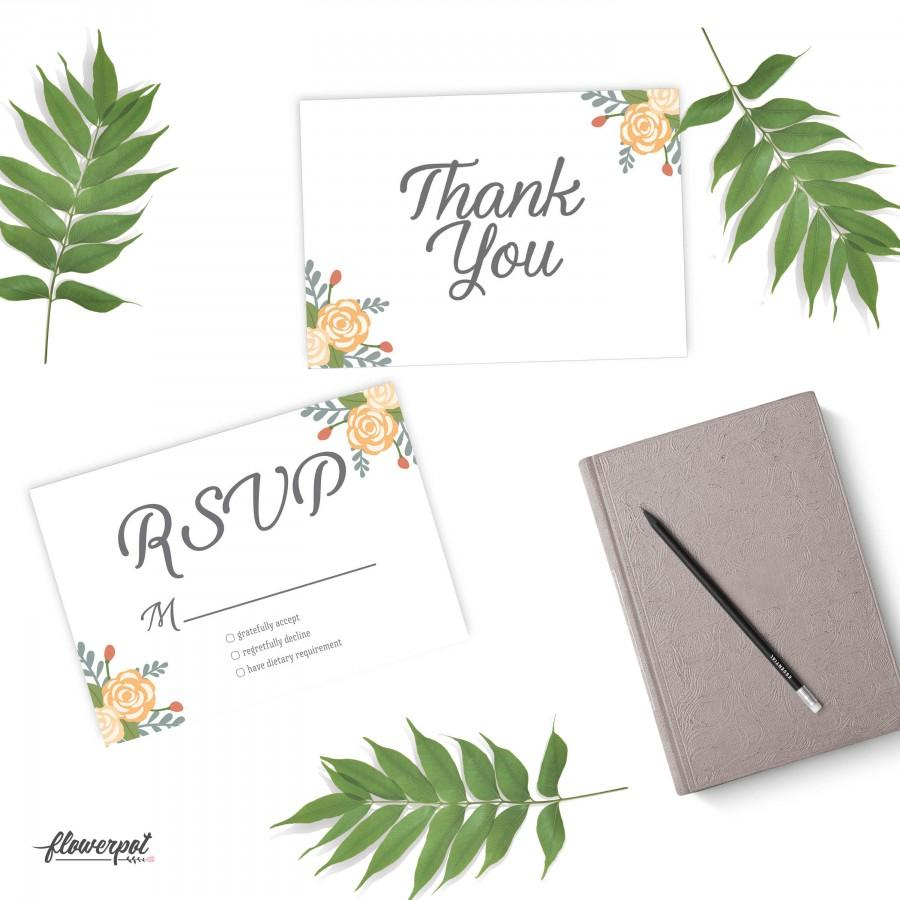 thank you rsvp wedding printable template wedding signage party
