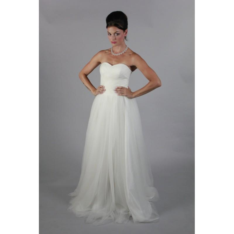 Simple Plain Traditional A Line Sweetheart Wedding Dress Beach