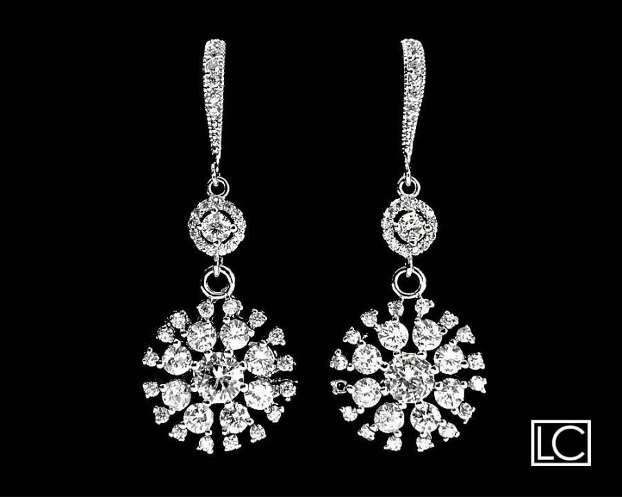 Cubic Zirconia Bridal Earrings Crystal Chandelier Wedding Luxury Cz Clear Dangle Earring Jewelry 36 90 Usd