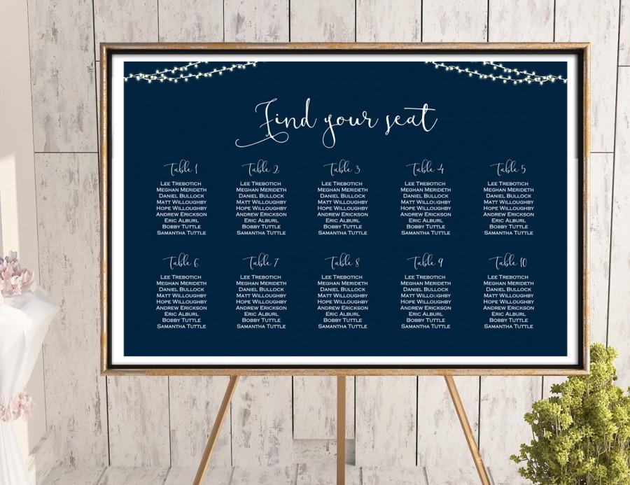 Wedding - Night Light Strings Wedding Seating Chart Printable