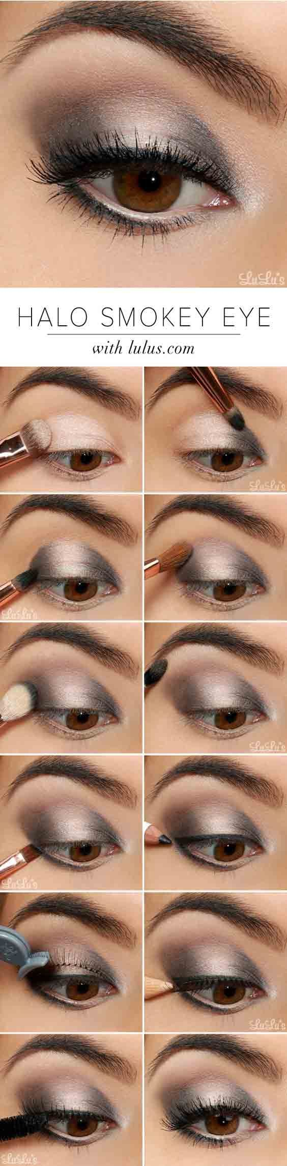 Свадьба - Halo Smokey Eye