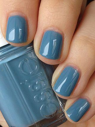 Blue Grey Gel Nail Polish