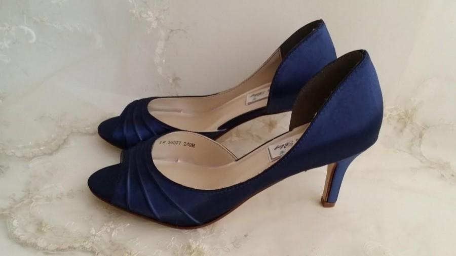 Wedding Shoes Bridal Blue Navy PICK FROM 100 COLORS Bridesmaid