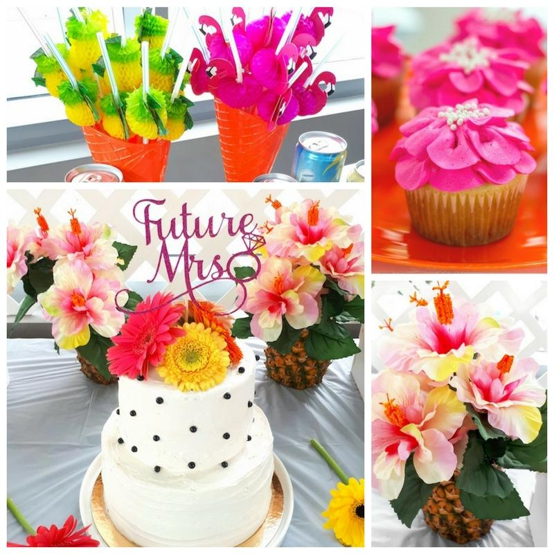 pink tropical bridal shower bridal shower ideas themes