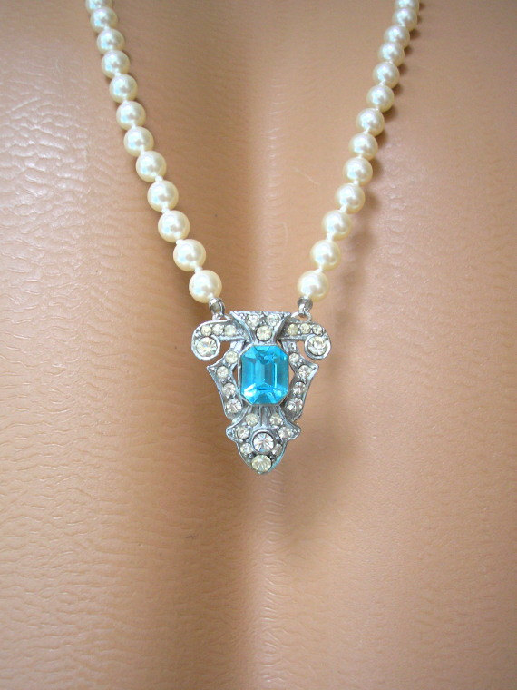 Wedding - Art Deco Backdrop Necklace
