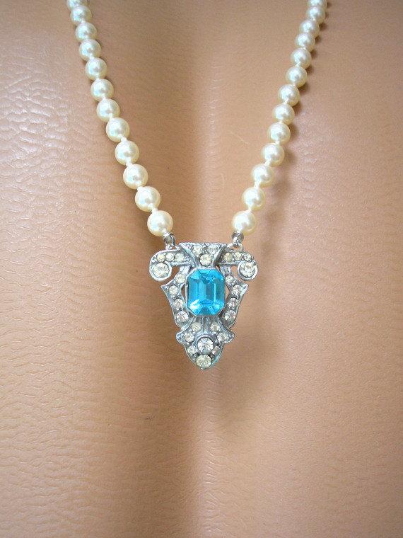 زفاف - Art Deco Backdrop Necklace