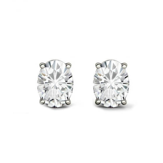 Свадьба - Raven Fine Jewelers, 2.00 Carat TW Oval Forever One Moissanite Stud Earrings, 7x5mm Anniversary Gifts for Women, Fine Jewelry Gifts Custom Jewelers, Christmas - $1589.00 USD