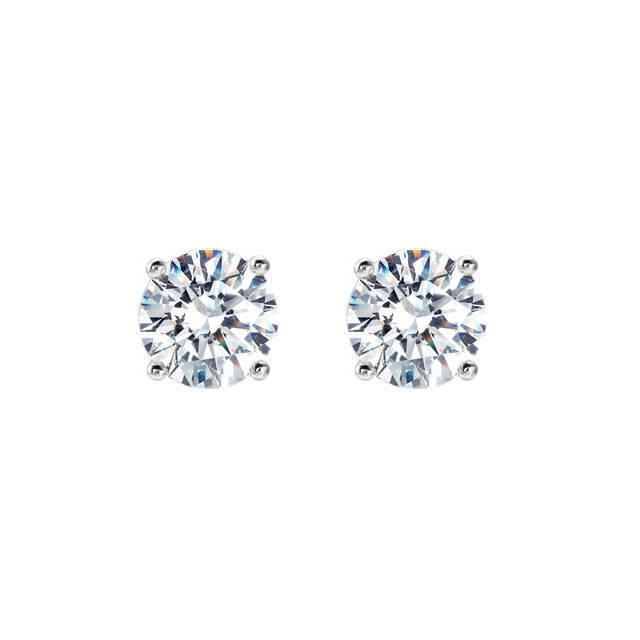 Mariage - 0.66 Carat TW Round Diamond Stud Earrings, GIA Diamonds, Anniversary Gifts for Women, Fine Jewelry Gifts, Custom Jewelers, Christmas, 4.4mm - $1595.00 USD