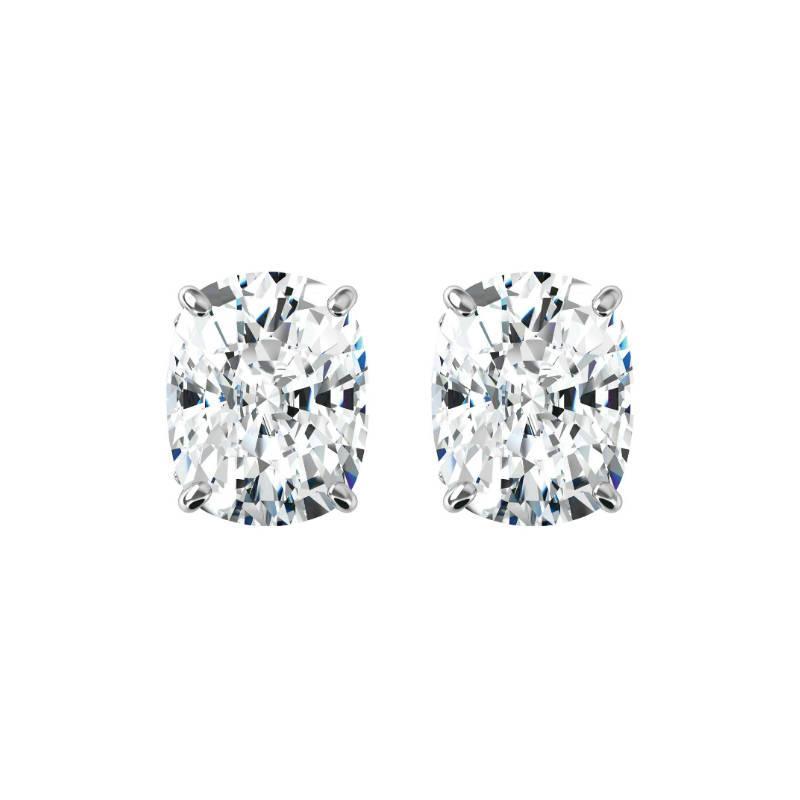 007cc5164 Raven Fine Jewelers, 3.20 carats tw. Elongated Cushion Harro Gem Moissanite  Stud Earrings 14k White Gold, 1.60 Carat Each, Moissanite Earrings 8x6mm,  ...