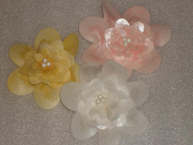 Large wafer paper flowers cake toppers cupcake toppers for weddings large wafer paper flowers cake toppers cupcake toppers for weddings showers birthdays mightylinksfo
