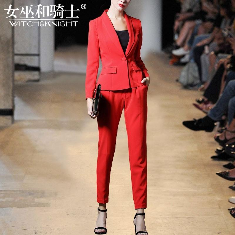 Свадьба - Vogue Attractive Slimming Fall Red Outfit Twinset Skinny Jean - Bonny YZOZO Boutique Store