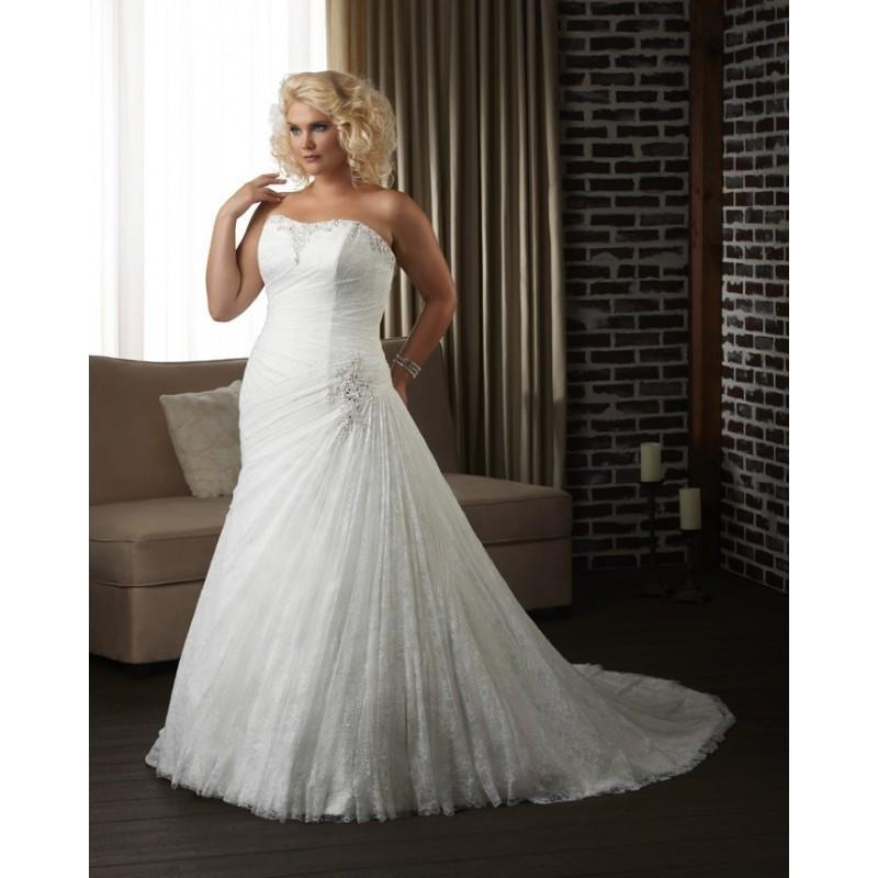 Bonny Unforgettable 1300 Plus Size Wedding Dress Crazy Sale Bridal