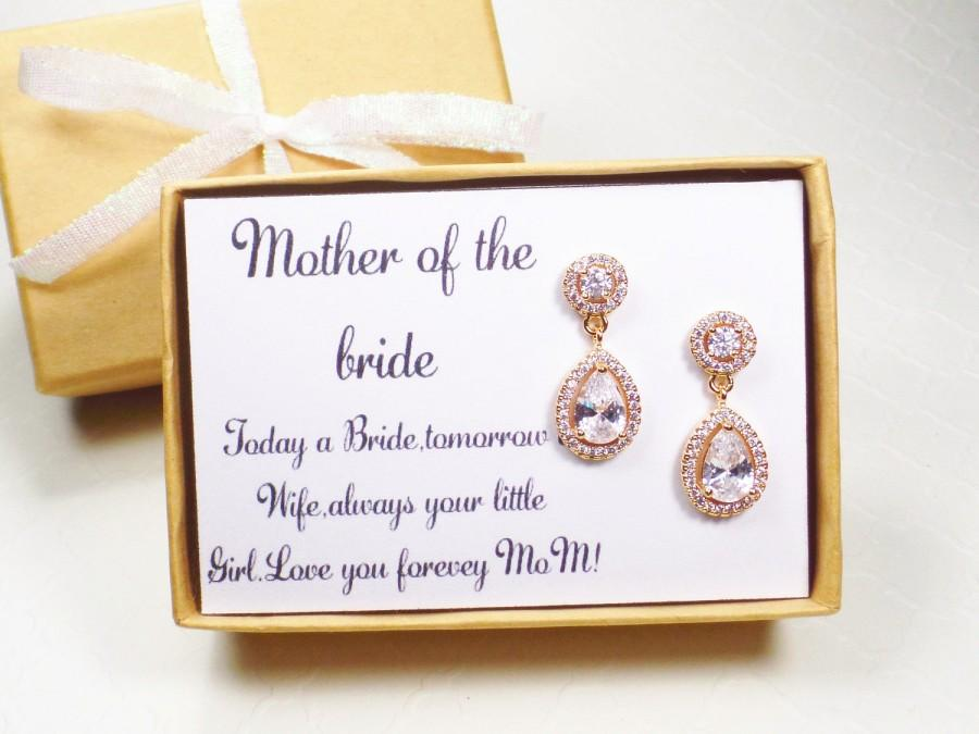 Mother Of The Bride Gift Groom Earrings In Law