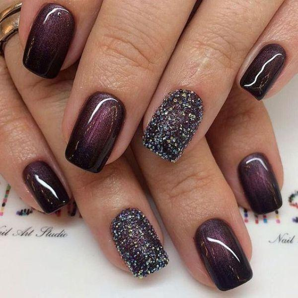 89 Glitter Nail Art Designs For Shiny Sparkly Nails 2805642