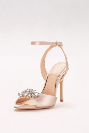 Свадьба - Satin Ankle-Strap Heels With Crystal Ornament Style JWHAYDEN