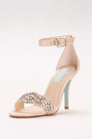 Wedding - Embellished High Heel Sandals With Ankle Strap Style SBJUNO