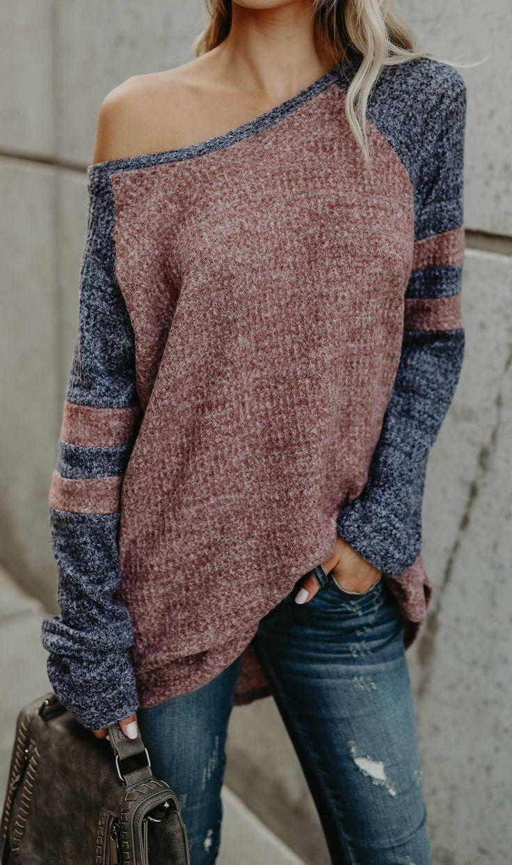 Свадьба - Fashion Oversize Casual Sweater