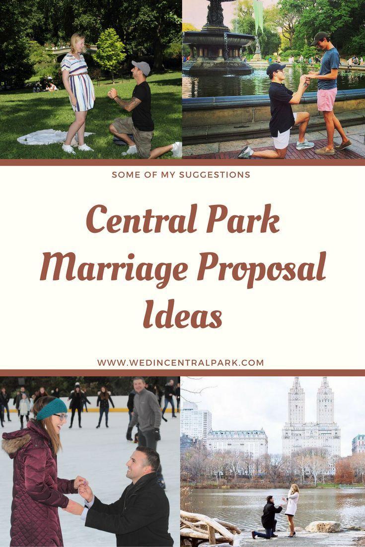 Свадьба - Central Park Marriage Proposal Ideas