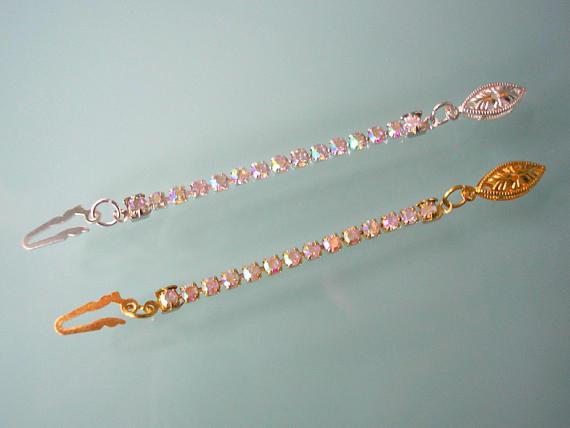 Wedding - Rhinestone Necklace Extender, AURORA BOREALIS,
